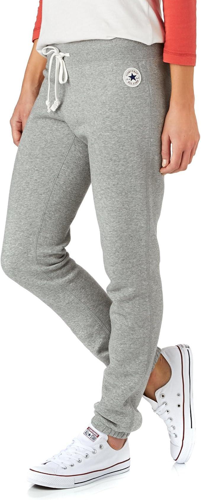 Converse Pantalon de Sport Femme Gris Large: Amazon