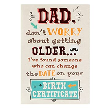 Hallmark Birthday Card For Dad Birth Certificate