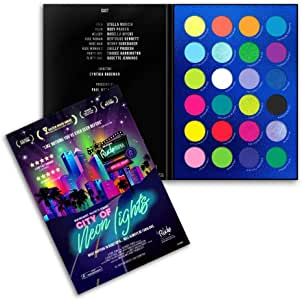 RUDE Rude city of neon lights - 24 vibrant pigment & eyeshadow palette