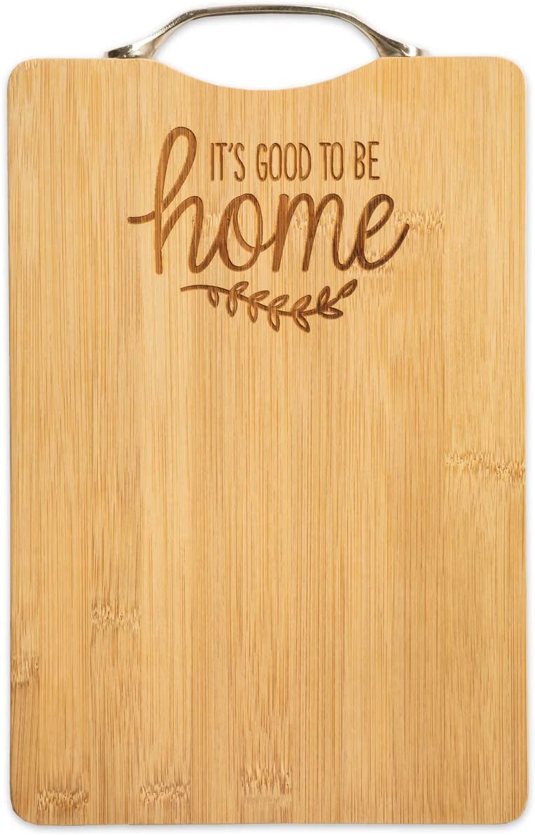 Brownlow Gifts 75864 Gifts Bamboo Cutting Board with Handle, 7.5 x 11.75-Inches, It's Good To Be Home