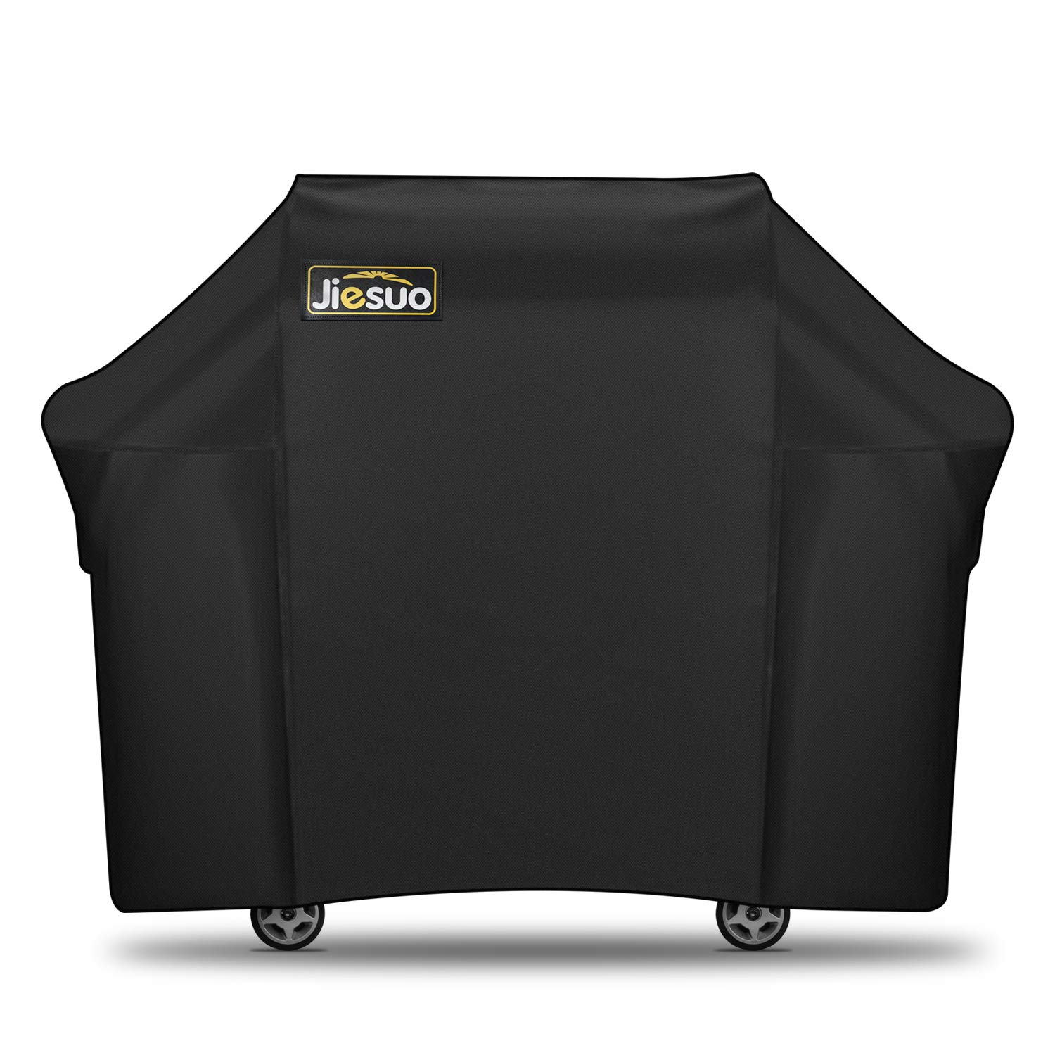 JIESUO BBQ Gas Grill Cover for Weber Genesis: Heavy Duty Waterproof 60 Inch 3 Burner Weather Resistant Ripstop UV Resistant Outdoor Barbeque Grill Covers by JIESUO