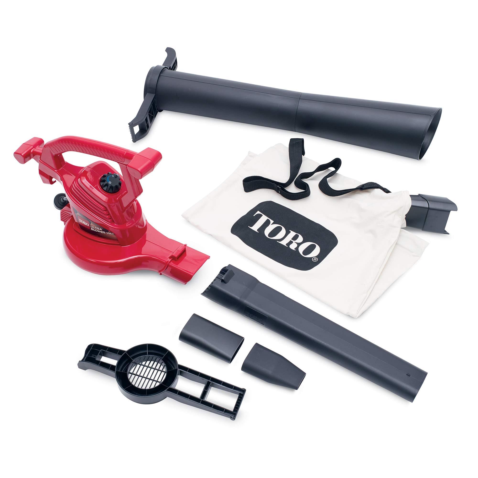 Toro 51619 Ultra Electric Blower Vac, 250 mph, Red by Toro