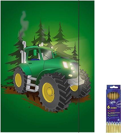 traktor lot de 6 cartons de dessin pour