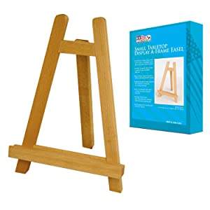 U.S. Art Supply Carmel 10-1/2 inch Tall Tabletop Wood Display Artist A-Frame Easel (1-Easel)