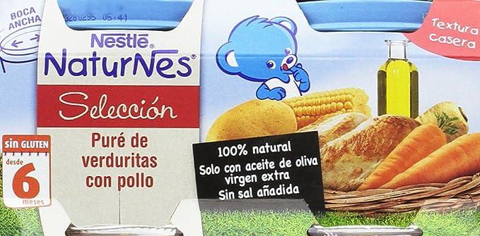 Nestlé Naturnes - Selección Puré De Verduritas con Pollo - A partir de 6 meses - 2 x 200 g - [Pack de 5]