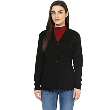 cc3a26917334 Image Unavailable. Image not available for. Colour  One Femme Women s  Woollen Self-Design Solid Color Cardigan