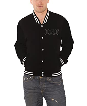 Amazon.com: Ac/Dc Baseball Jacket Back In Black Band Logo Official