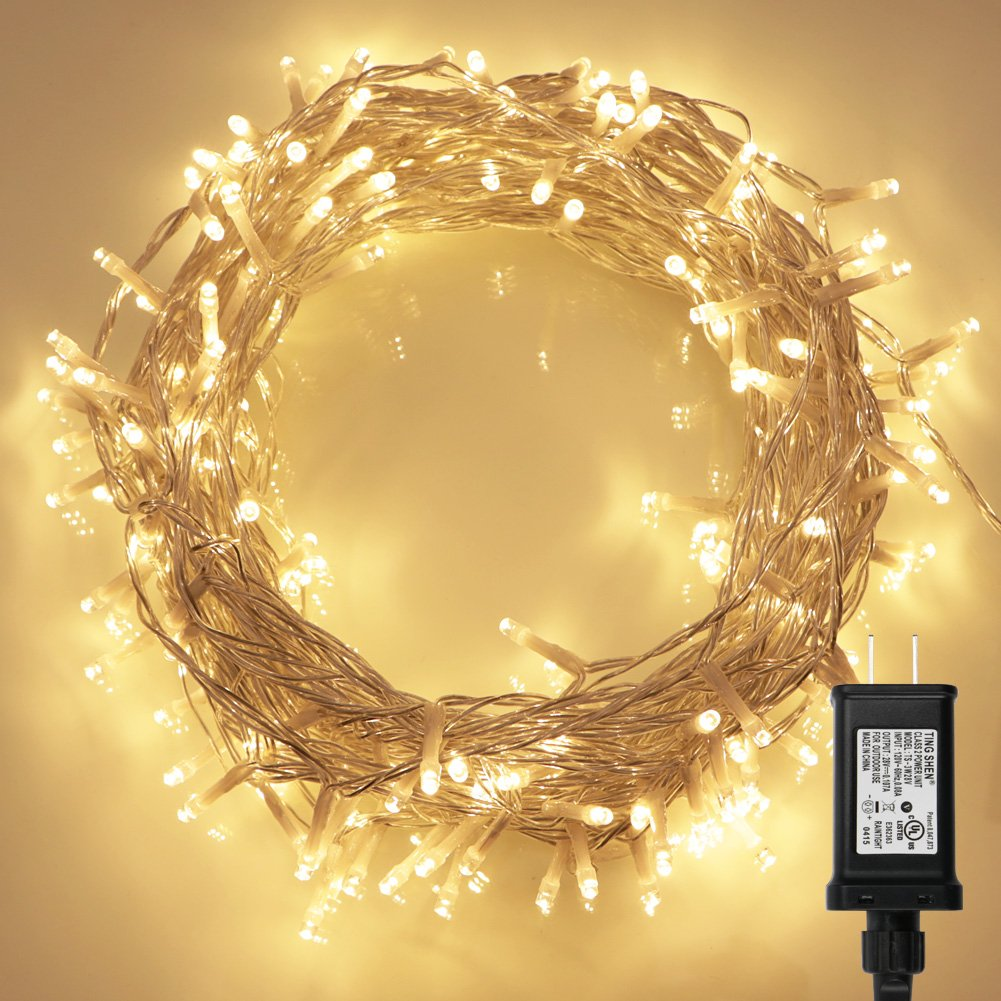 amazoncom 200 led indoor string light with remote and timer on 69ft clear string 8 modes dimmable low voltage plug warm white home improvement - Low Voltage Christmas Lights