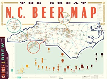 Amazon great nc beer map poster posters prints great nc beer map poster gumiabroncs