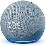 Novo Echo Dot (4ª geração): Smart Speaker com Relógio e Alexa - Cor Azul