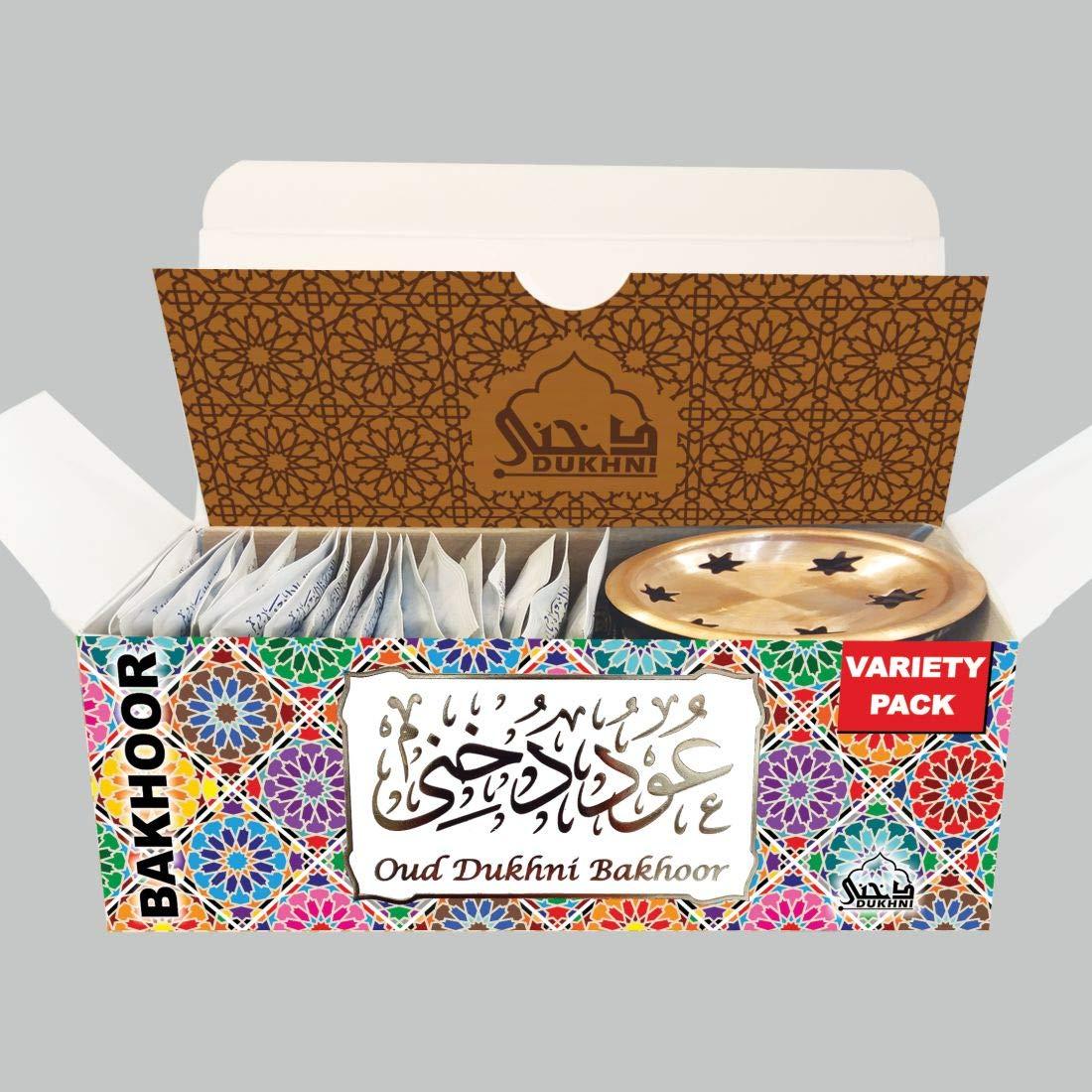 Dukhni Oud Bakhoor Incense Variety Box & Rainbow Bakhoor Burner - Gift Set & Starter Kit by Dukhni (Image #4)