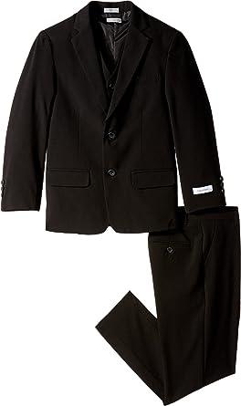 4f001c9bc112 Calvin Klein Kids Boy s Bi-Stretch Suit (Big Kids) Black Youth 8 Big