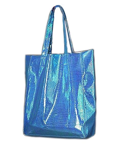 Amazon.com: Para mujer bolsas de bolsa grande holograma asa ...