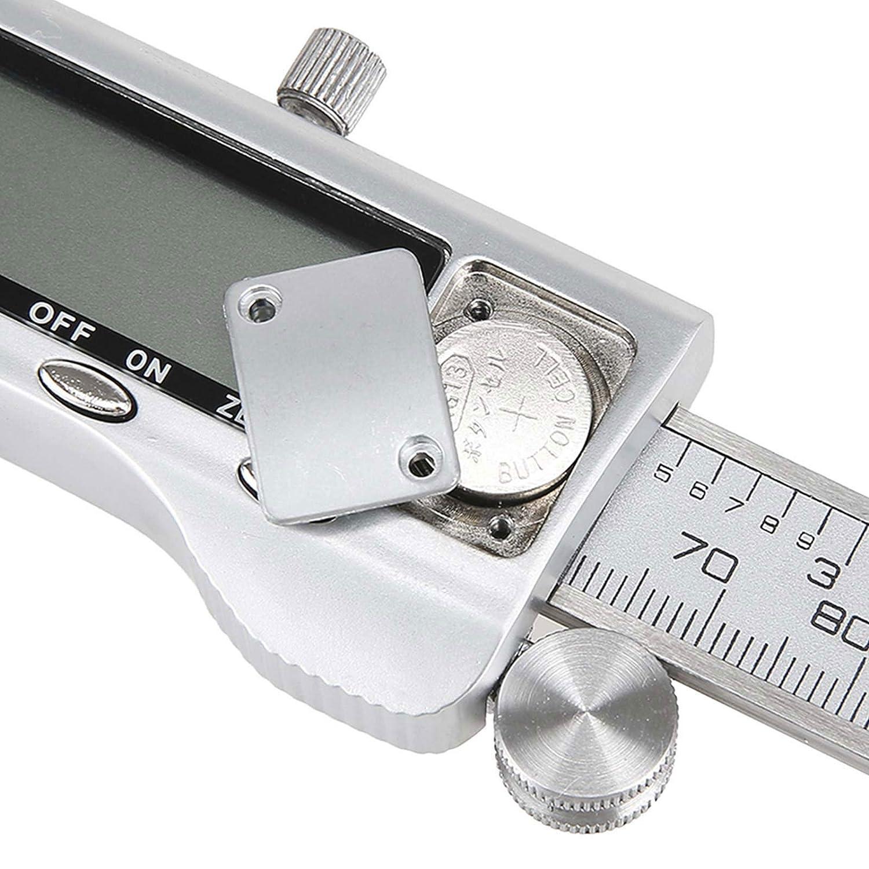 medidor de calibre de Vernier resistente al agua de acero pantalla LCD de 150 mm herramienta de medici/ón para de acero inoxidable duradero digital Calibrador digital de Vernier