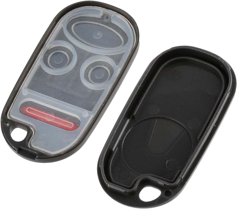 KOBUTAH2T Key Fob Shell Case for Honda Accord//Acura TL 1998 1999 2000 2001 2002 Set of 2