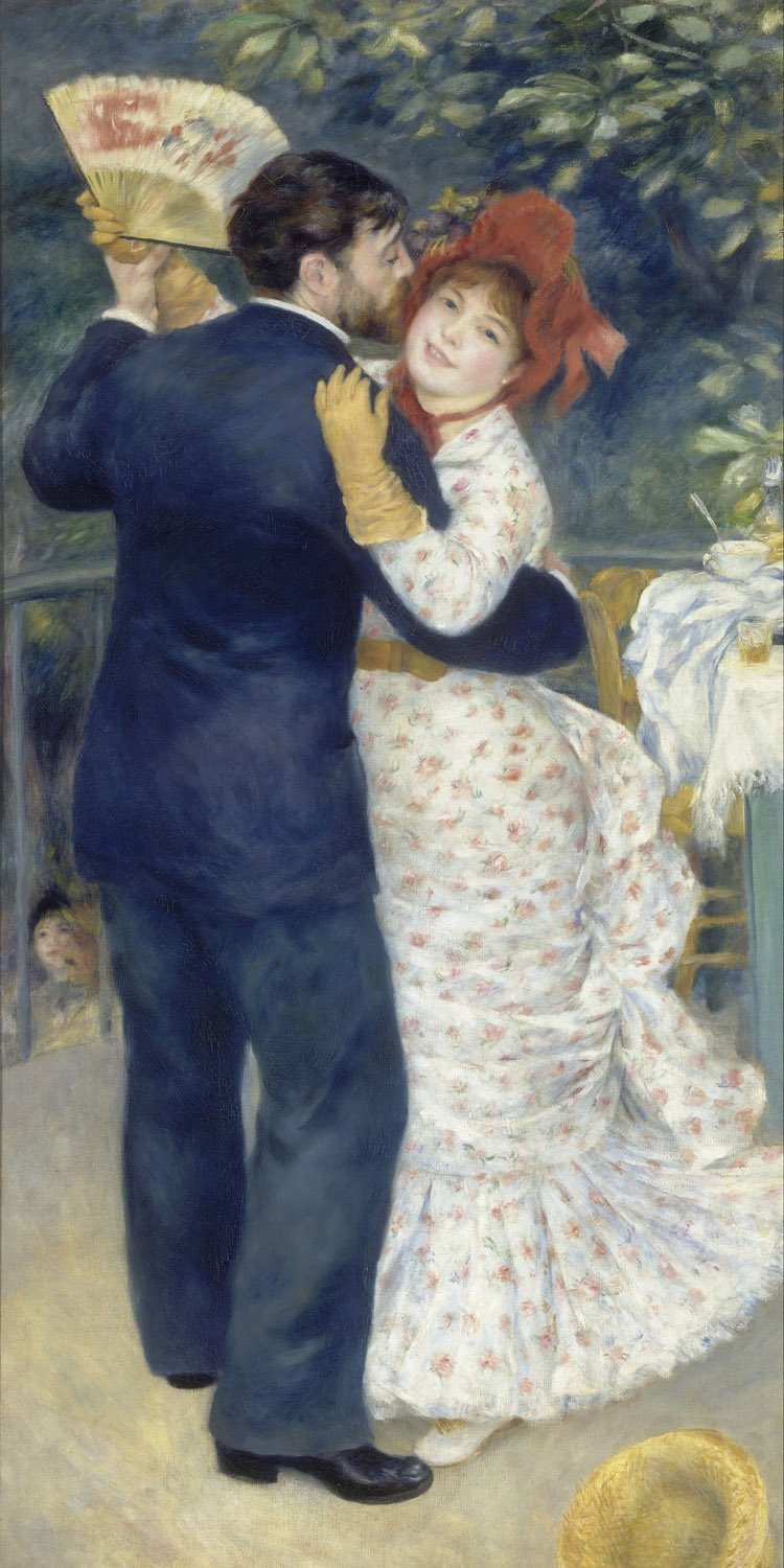 Oil Painting Reproductions on Canvas Prints,High definition print-Dance in the Country by Pierre-Auguste Renoir