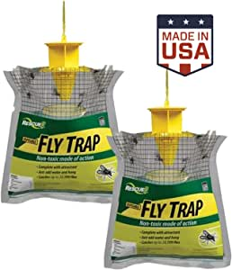 RESCUE Outdoor Disposable Fly Trap, 2 Pack