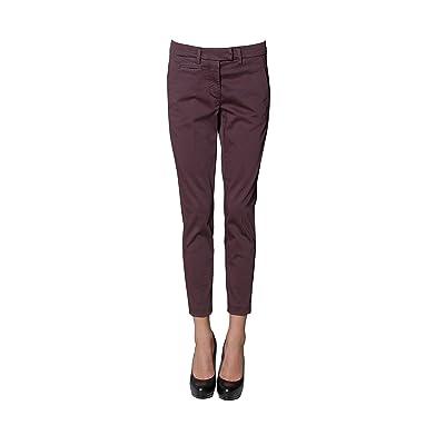 3566bf78981 Dondup Femme PERFECTRS004D586 Bordeaux Coton Pantalon