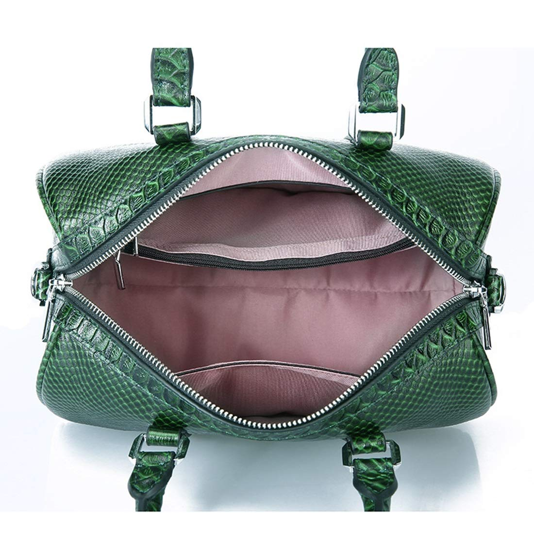 Sopetify Snakeskin Pattern First Layer Leather Bag Shoulder Portable Ladies Bag Stereo Stereotypes Simple and Practical Womens Totes Bags