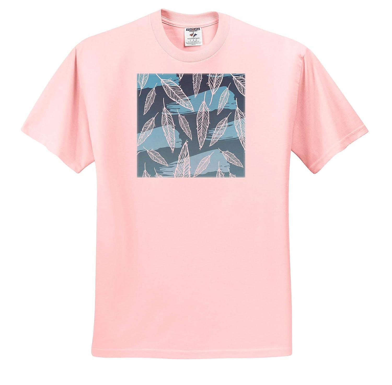 3dRose Sven Herkenrath Art Blue and Green Leaf Nature Aloha Holiday Design Art T-Shirts
