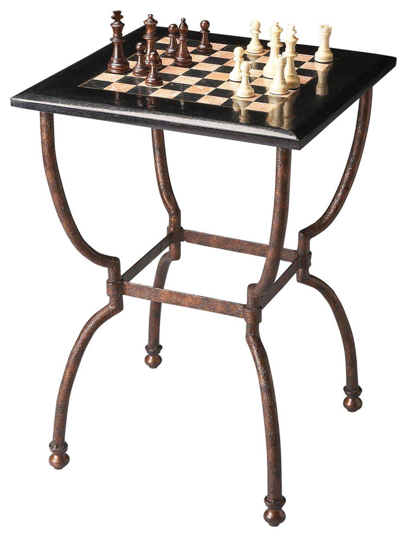 BUTLER 6061025 FRANKIE FOSSIL STONE GAME TABLE by Butler specality company