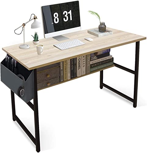 Home Office Computer Desks,Table Gamer Workstation,2-Tier Modern Simple Study Writing Desk Industrial Style