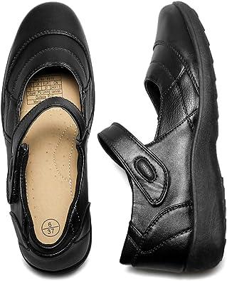 AOMAIS Women's PU Leather Flats Shoes