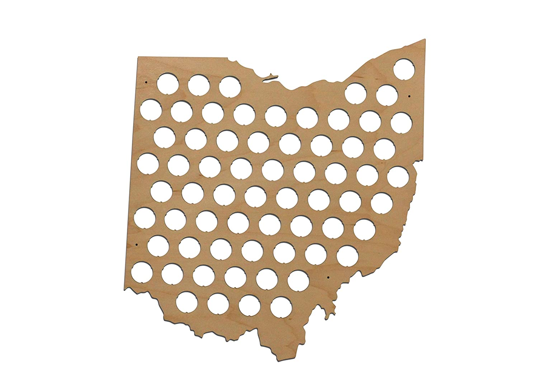 Ohio And Surrounding States Map.Amazon Com All 50 States Beer Cap Maps Ohio Beer Cap Map Oh