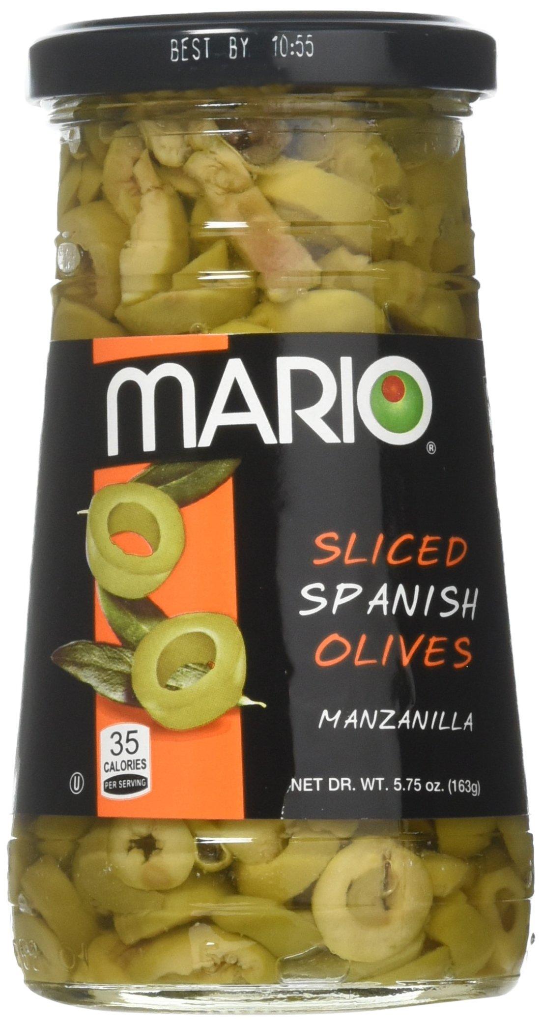 Mario Camacho Foods Sliced Spanish Olives, Manzanilla 5.75 Oz (Pack of 4) by Mario Camacho