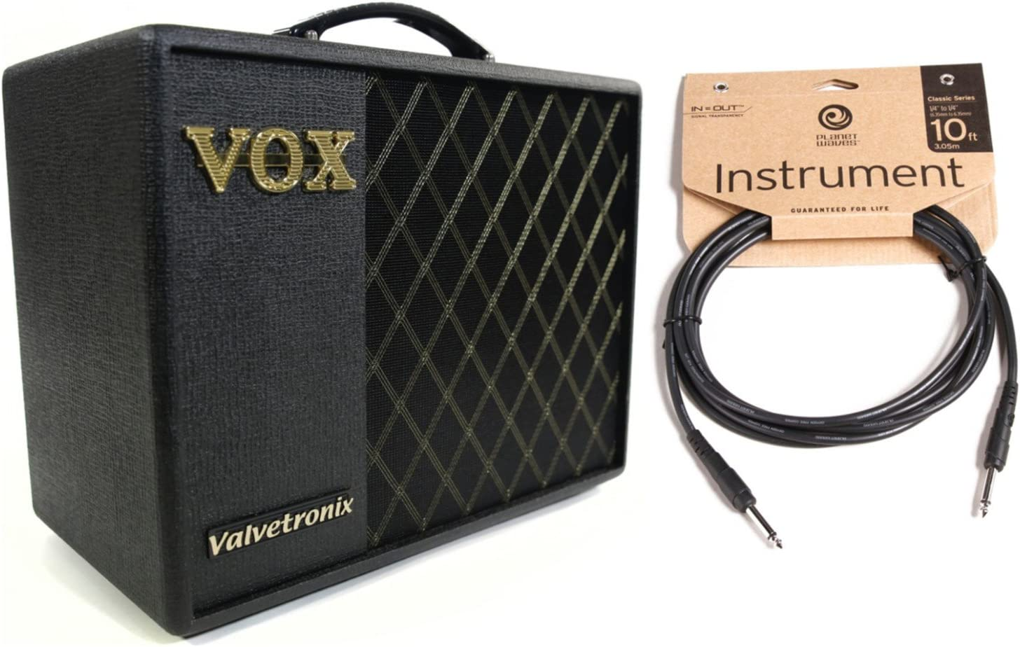 VOX VT20X 20W Guitar Modeling Amplifer w// 10 Classic Series Instrument Cable