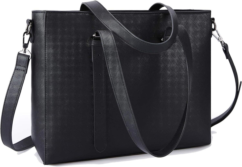 Laptop Tote ECOSUSI Briefcase for Women Work Shoulder Bag 15.6 Inch Laptop Purse