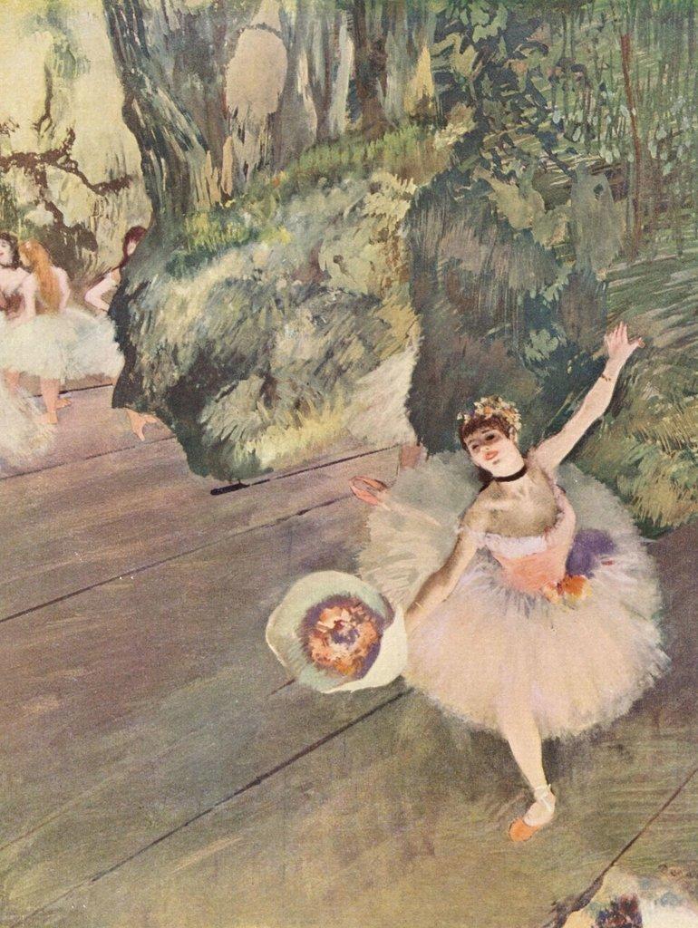 Lais Puzzle Edgar Germain Hilaire Degas - Tänzerin mit Blumenstrauß (Der Star des Balletts) 2000 Teile