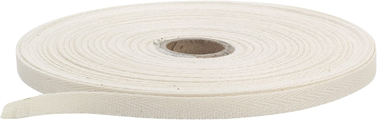 White Pearl .5 Wide Twill Tape 36 yd