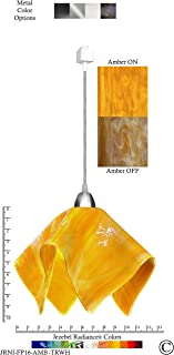 product image for Jezebel Radiance JRNI-FP16-AMB-TRNI Nickel Flame Track Light, Large, Amber
