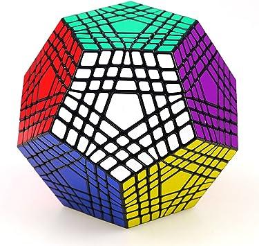 Shengshou 7x7x12 Megaminx Gigaminx 7 Layer dodecaedro Doce Caras Magia Cubos Cubos Puzzle Cubo Velocidad + un Cubo Stand (Color Negro): Amazon.es: Juguetes y juegos