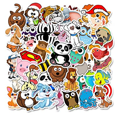 Animal Stickers for Kids Water Bottles 50 Pcs Cute Stickers for Children Hydro Flask Laptop Craft School Scrapbooking for Teens Boys Girls Kids: Kitchen & Dining