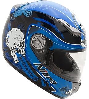 Amazon.com: Nitro tatuaje Negro/Rojo Full Face Helmet, Negro ...