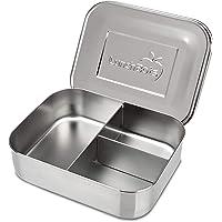 LunchBots Trio 2 Edelstahl Nahrungsmittelbehälter – Drei Abschnitt Design, perfekt für gesunde Snacks, beilagen oder Finger Foods – Umweltfreundlich, Spülmaschinenfest und BPA frei