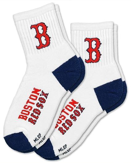 Amazon.com   MLB Boston Red Sox Men s Quarter Socks (2 Pack ... cdf699e2b