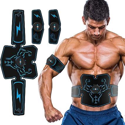 BKSDMAN Muskelstimulation Elektrostimulation EMS bauchmuskeltrainer bauchtrainer Trainingsger/ät Muskelstimulator Ger/ät Trainer f/ür Bauch Arm Bein Training Damen Herren
