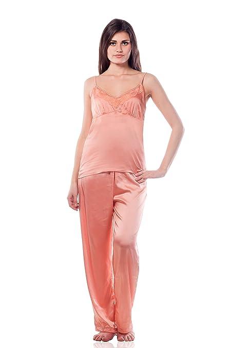 3dc8c9f38bc Miss Chase Women s Satin Nightwear Pyjama set Sleep   Lounge Wear from amazon  in Nightdress