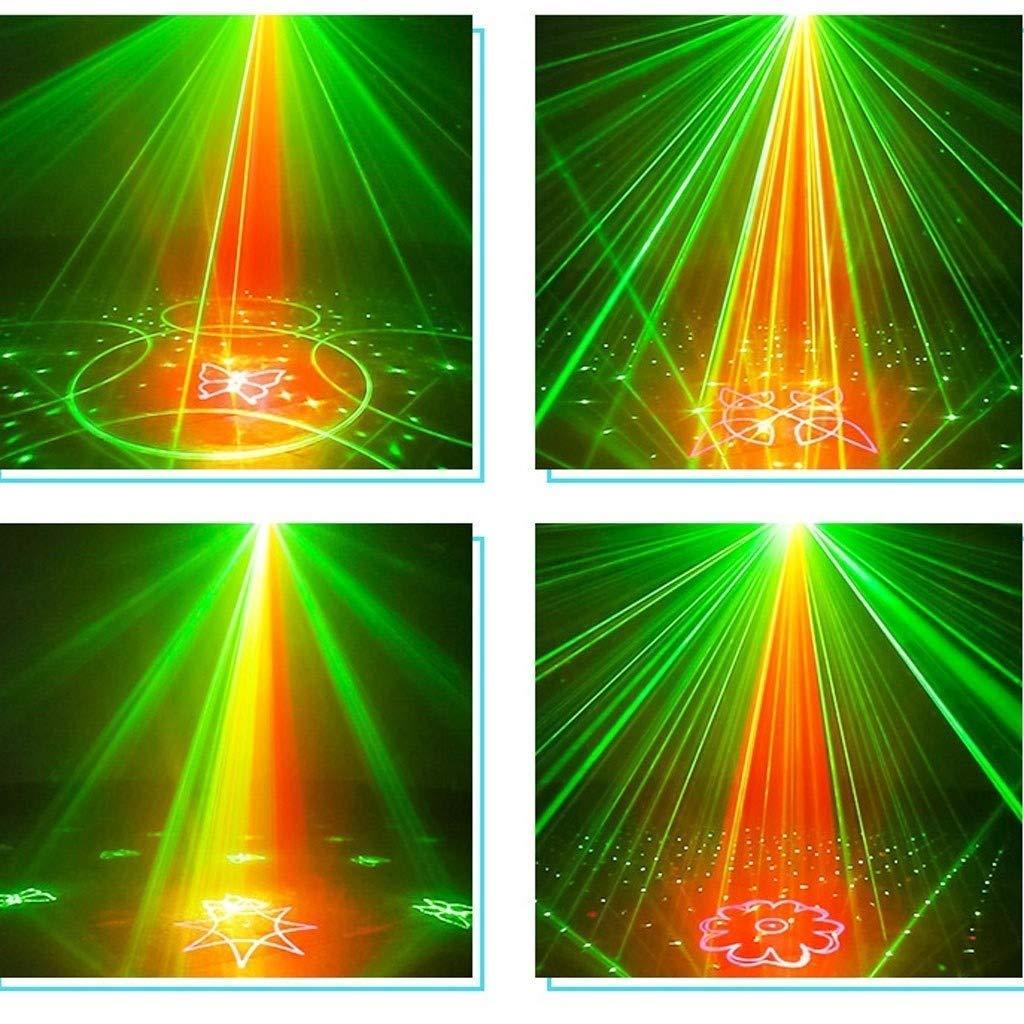 LED Luces De Discoteca Control De Voz Control Remoto Mini L/ámpara De Proyecci/ón Gypsophila para Casa Bar KTV Navidad XMYL Doble Agujero Luces del Escenario con 48 Patrones