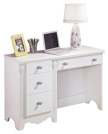 Ashley Furniture Signature Design - Exquisite Bedroom Vanity Desk -  Traditional Style - White