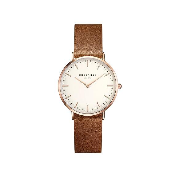 Rosefield Reloj Analógico para Mujer de Cuarzo con Correa en Cuero TWBRRC-T55: Amazon.es: Relojes