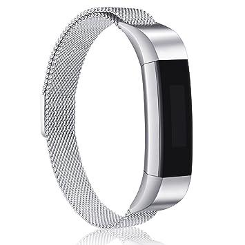 Hotodeal Fitbit Alta y Alta HR Correa de Metal, Milanese Loop Pulsera de Acero Inoxidable Reloj Inteligente Banda con Cierre magnético para Fitbit ...