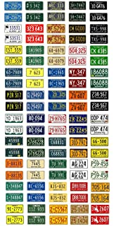 1//18 scale model car assorted USA 1960s license plates state tags 1:18