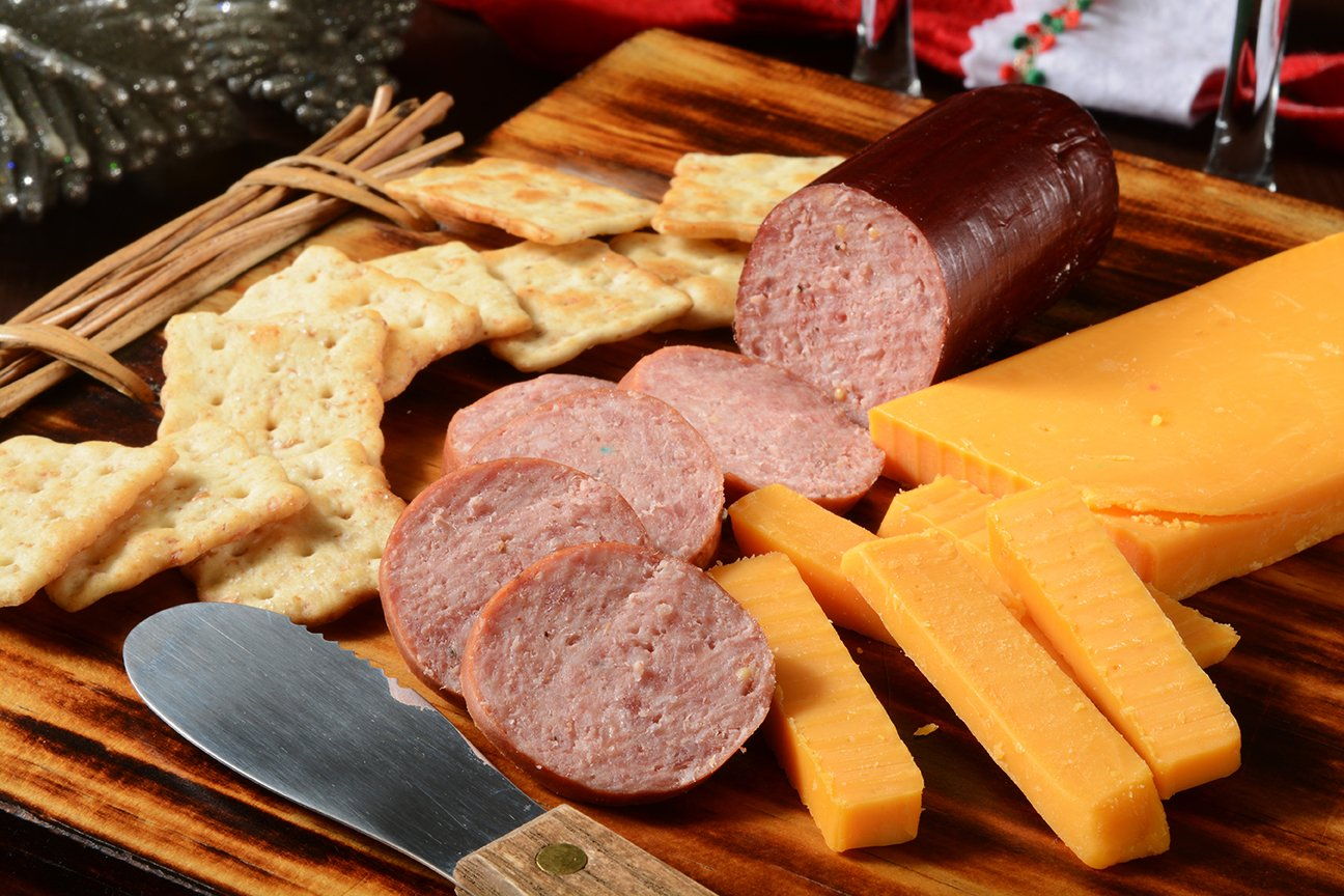 Holiday Specialty Gift Basket - features Smoked Summer Sausages, 100% Wisconsin Cheeses, Crackers, Pretzels & Mustard | A Great Snack or Gift Basket for Family & Friends. by WISCONSIN'S BEST and WISCONSIN CHEESE COMPANY (Image #6)