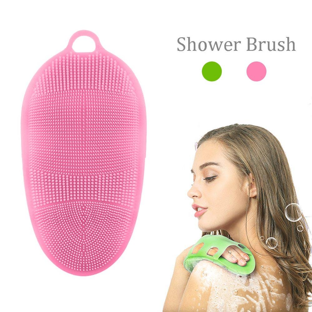pawaca Weiche Silikon Körper Bürste Körper Scrubber Peeling Bad Handschuh Gesicht waschen Haut SPA Massage Cleanser, für empfindliche und alle Art Skins, BPA frei,-Kette