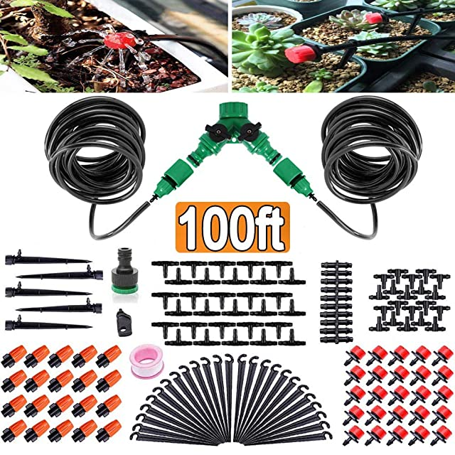 FAMI HELPER 100ft/30M Garden Irrigation Kit