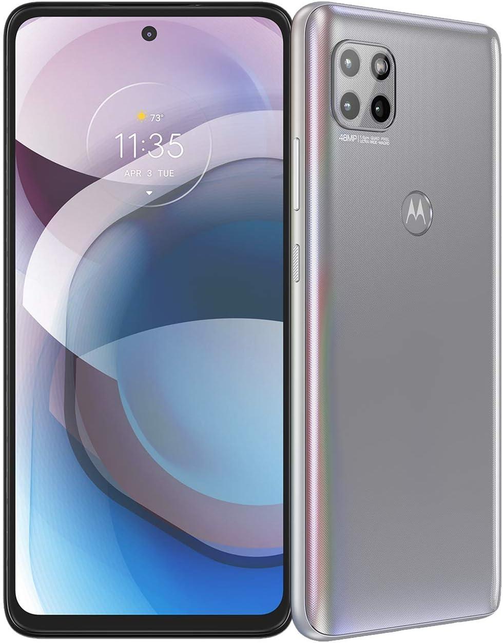 Motorola One 5G Ace | 2021 | 2-Day Battery | Unlocked | Made for US by Motorola | 6/128GB | 48MP Camera | Hazy Silver